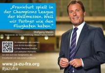 Wolfgang Marzin  über die Messe Frankfurt und den Flughafen Frankfurt