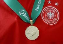 Siegermedaille der U 19-Europameister